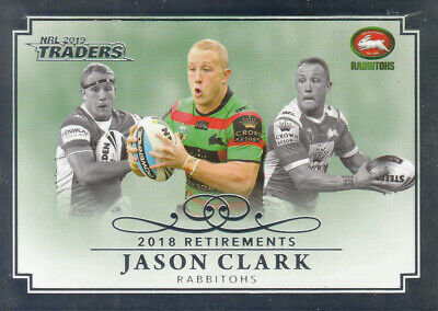 2019 Nrl Traders Retirements Parallel - Rp12 Jason Clark South Sydney #01 Of 50