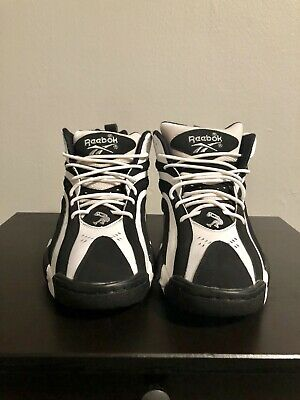 d551f383e20 REEBOK SHAQNOSIS OG Men s Size 10 Black and White Shaq Attaq ...