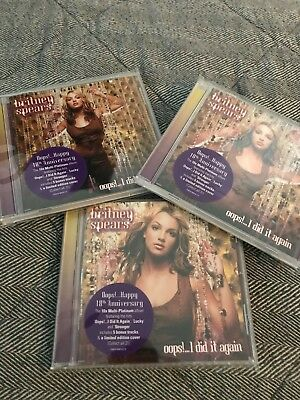 Britney Spears Oops I Did It Again 3 Cd Set, Promo, Alt. Artwork, Bonus Tracks