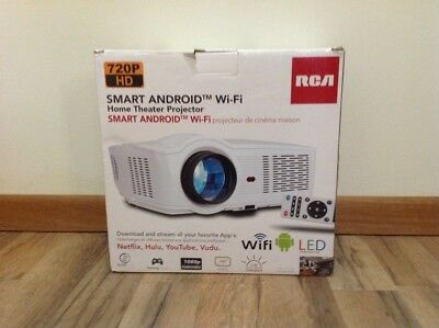 RCA RPJ129 Smart Android Wi-Fi LED Home Theater Projector 720P HD Quality
