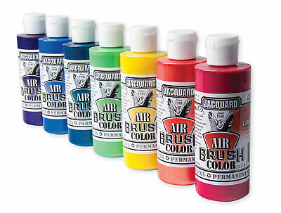 Jacquard Airbrush Paint Colors 12 Bottle Bundle! Free Expedited Shipping!