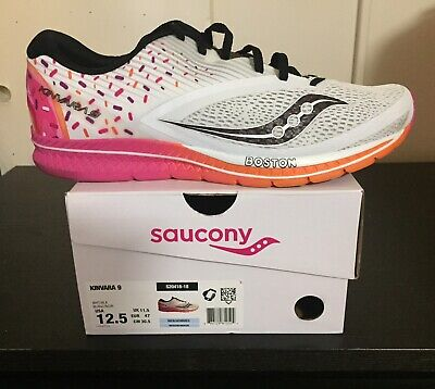 the latest f61d3 4bac6 Saucony Kinvara 9 Dunkin donuts Boston marathon 2018 Running Shoes Size 12  1 2