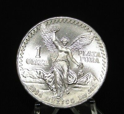 1984 Libertad 1 Oz Silver  In Air-Tite Case,free Shipping