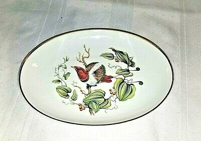 Mottahedeh Plate King Bird of Paradise Oval Plate Vintage Collectible