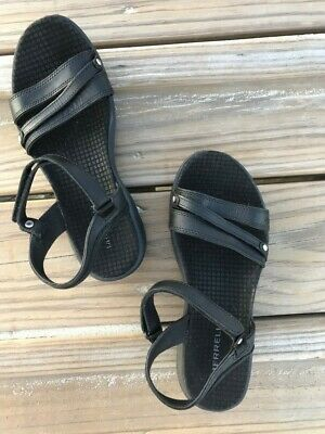 639c8209ae49 MERRELL AGAVE LEATHER Strappy Sandals Black Women s Size 6 VGUC ...