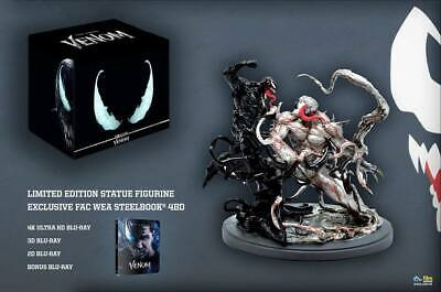 VENOM 4K, 3D, 2D Collector's Blu-ray Filmarena Steelbook Limited NUMBERED Statue