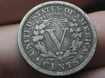 1905 Liberty Head V Nickel- Fine/VF Details, Full Date, Full Rims