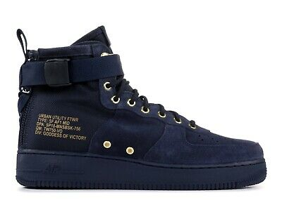 new arrival 371b8 4046a Nike Air Force 1 Sf Af1 Mid Special Field Obsidian Suede Navy Sz 16  917753