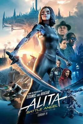 Alita Battle Angel Movie Poster Print Wall 8x10 11x17 16x20 22x28 24x36 27x40