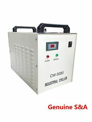S&A CW-3000 Water Chiller Cool 50W 60W 80W CO2 Laser Tube 1.5KW CNC Engraver