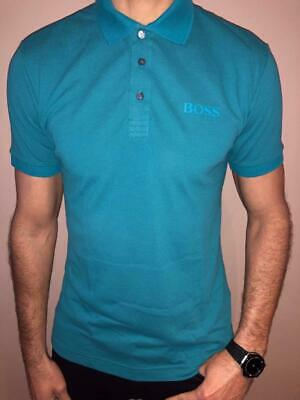 Hugo Boss Pique Polo Shirt Mens Modern Fit Turquoise Nwt Large Exclusive