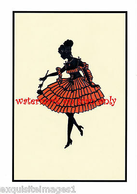 Ballerina~Art Deco Silhouette~ NEW Large Note Cards