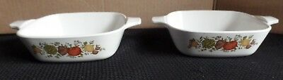 Vintage Corning Ware Spice Of Life 1 3/4 Cup P-41-B Small Casserole Set Of 2
