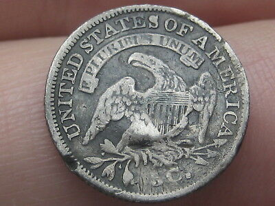 1835 Capped Bust Half Dime- Fine Details, Small Date, Small 5C
