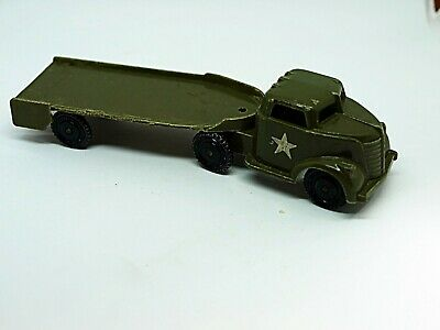 Vintage Pyro Plastic Army Semi and Trailer Nice