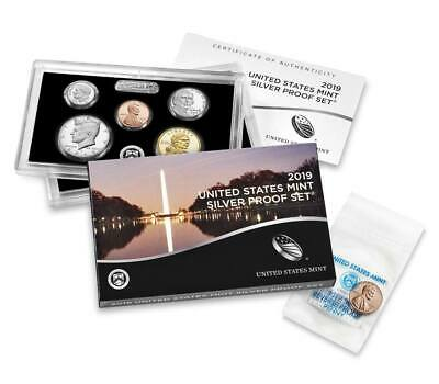 2019 Silver Proof Set Complete And COA W Penny New Release With Rev Cent
