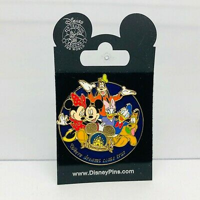 Disney Pin Disneyland 2007 Mickey Minnie Pluto Daisy Donald Goofy
