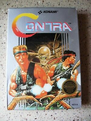 1988 Vintage KONAMI-Nintendo CONTRA, Video Game Cartridge