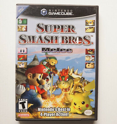 SUPER SMASH BROS. MELEE TESTED w/ Box Gamecube 100% Authentic