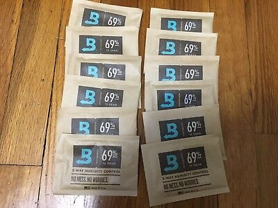 Boveda for Humidors 2 way humidity control 69% 10 Gram 12 Count Made in USA