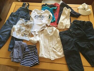 Bulk Lot Of 14 x Mixed Baby Boys clothes  Toddler Bundle size 1-2, 12-24 months