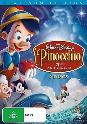 Pinocchio Platinum Edition DVD 2-Disc Set ~BRAND NEW & SEALED~ Disney Reg 4