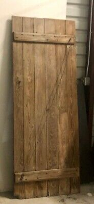 Antique Farmhouse Barn Solid Wood Door Wrought Iron Hardware