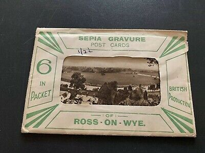Astd Old Vintage Ross On Wye Post Cards British History Sepia Gravure Photo
