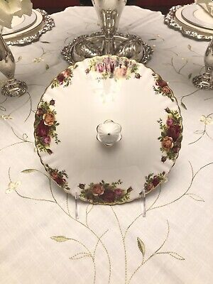 Royal Albert Old Country Roses Lid For Covered Vegetable Dish Tureen England