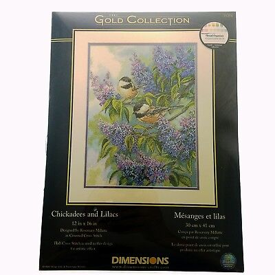 Dimensions Needlecrafts Counted Cross Stitch Chickadees and Lilacs