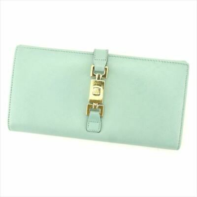 8cd2bbc9b521 GUCCI LONG WALLET G logos Blue leather Woman Authentic Used L2731 ...