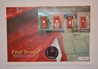 2009 Post Boxes Coin First Day Cover