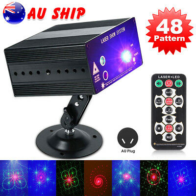 48 Pattern Laser Projector Stage Effect Lights LED RGB Party DJ Disco Lighting