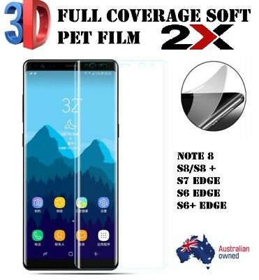 2X Full Screen Protector Film For Samsung Galaxy S10 + Note 8 S8/9 & Plus Models