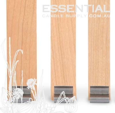 Candle Making Wood Wicks Size 4, 150mm long x 15.9mm Pack 100, with Tabs