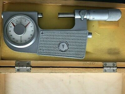 SUHL DDR dial indicating micrometer 25-50mm