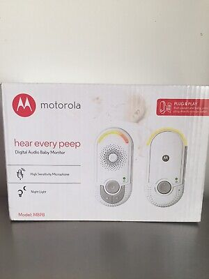 Motorola MBP8 Hear Every Peep Digital Audio Baby Monitor Brand New Unopened