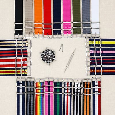 ZULU Nylon nato Watch Strap Band Military Army Divers james bond heavy duty G10