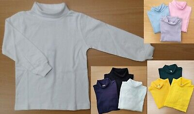 1PC or 2PCs Kids Boys Girls Unisex Cotton Skivvy Long Sleeve Top School Uniform