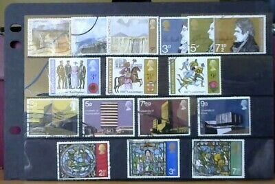 5 Used Sets Of G.b. Stamps 1971