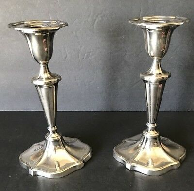 """Silver Plated Candle Holders 7"""""""