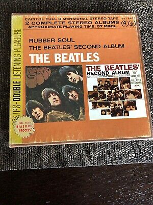 The Beatles Rubber Soul Second Album Reel To Reel Tape- 3 3/4 IPS