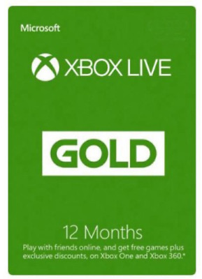 12 Month Xbox Live Gold - Xbox One - Account