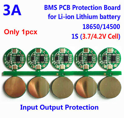 1PC 1S 3A Li-ion Lithium 3.7V 18650 Battery Charger BMS Protection PCB Board