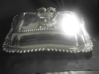entree dish silver plate