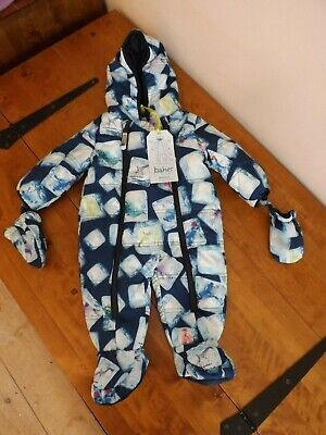 Nwt Ted Baker Boys Ice Cube Snowsuit Age 3-6 Months