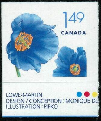 Canada Sc#2134 Flowers: Himalayan Blue Poppy, Unit from Booklet Bk320, Mint-NH