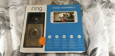 RING VIDEO DOORBELL HD CAMERA 2-WAY AUDIO MOTION DETECTION WiFi NEW SEALED