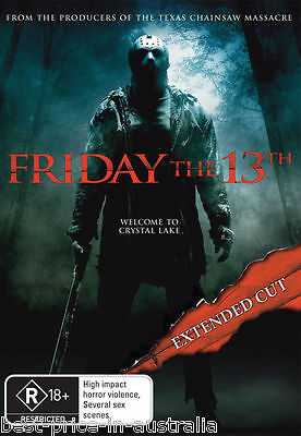 FRIDAY The 13TH - The Extended Cut DVD Movie BRAND NEW R4