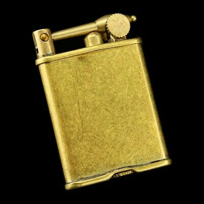 Unusual Vintage Lift Arm Rare lighter Metal Solid brass Gas OIL style lighters
